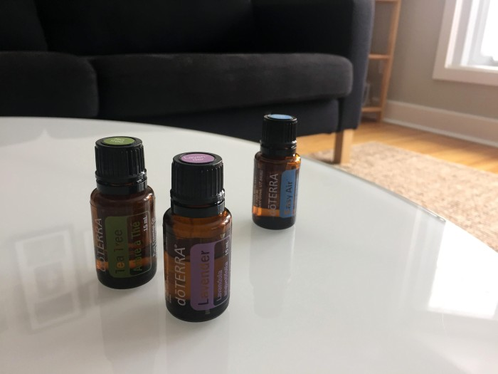 Tea tree, lavender and easy air essential oils